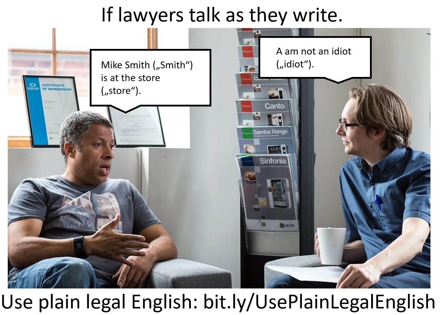"""If Lawyers Talk as They Write: """"I Am Not An Idiot"""""""
