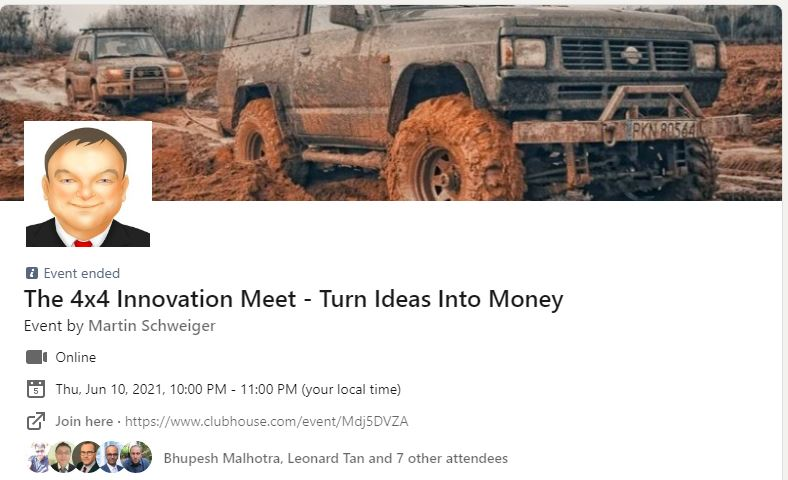 The 4×4 Innovation Meet (#3) With Praveer Gupta (US) – Clubhouse Event